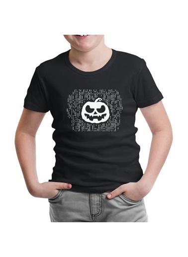 Lord Tshirt Halloween - Pumpkin Lines Siyah Çocuk Tshirt Siyah